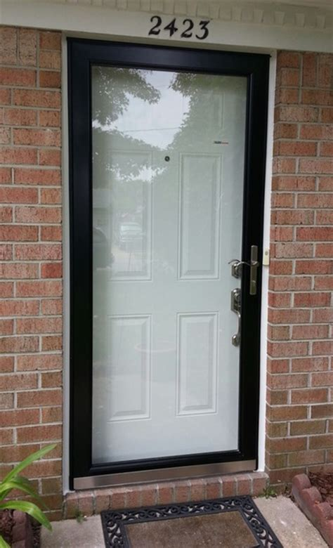 Security Doors With Glass Larson Secure Elegance Security Door With Impact Resistant Glass Doormasters Inc