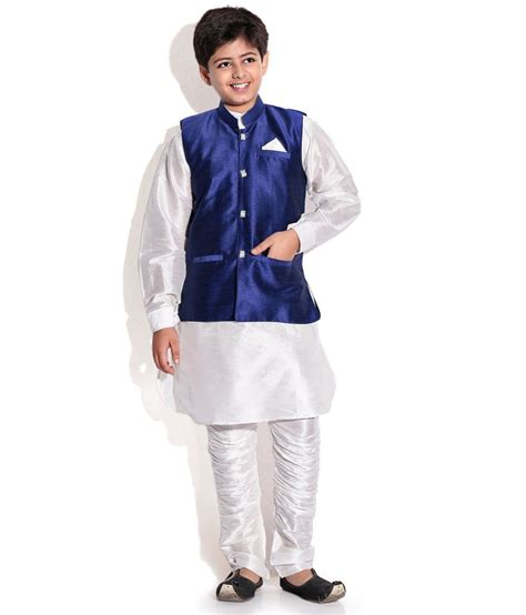 kurta colors riwaaz blue cream color kurta pajama set with jacket for