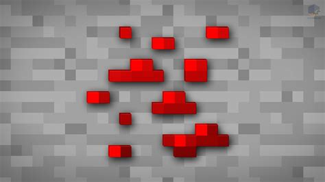 Redstone L minecraft shaded redstone ore wallpaper by chrisl21 on