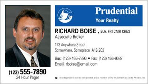 Credit Card Form Prudential Business Card Style Prudential Template 1006