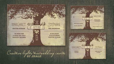 wedding invitations tree theme invitations wedding invitations invitations and oak tree