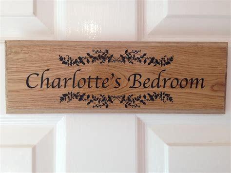 bedroom door signs personalised oak signs personalised garden signs