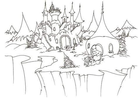 snow village coloring page snow bluebison net page 2
