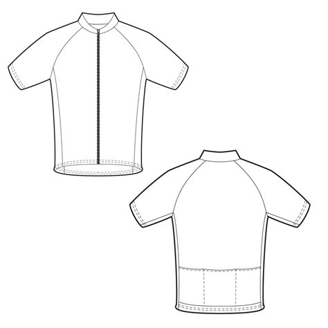 cycling shirt template sports jersey template printable sketch coloring page