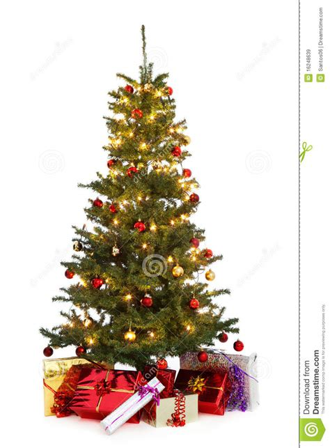 decorated christmas tree stock image image of gift