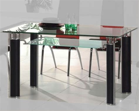 Metal Glass Top Dining Table Metal Dining Table W Glass Top Ol Dt38