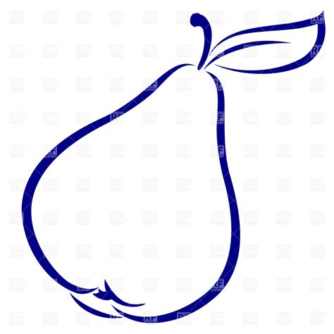 Simple Outline Of A by Pear Simple Outline Silhouettes Outlines Royalty Free Vector Clip Eps