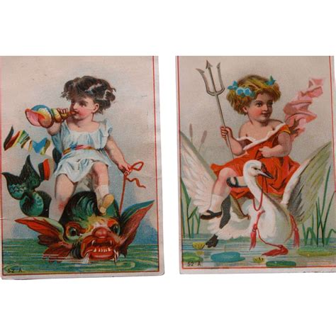Trade Gift Card For Gift Card - victorian trade cards blanks fantasy two cards lithographs from timeinabottle on ruby lane
