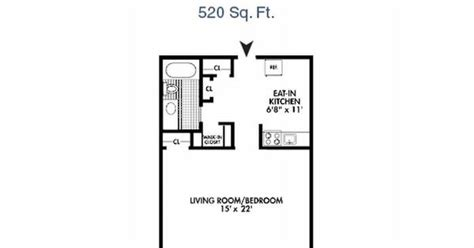 520 square feet the seramonte studio apartment floor plan 520 sq ft