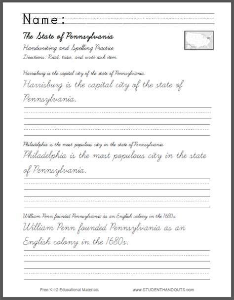 free printable handwriting worksheets with sentences cursive writing practice sheets sentences free cursive
