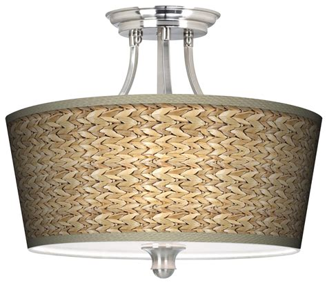seagrass tapered drum giclee ceiling light ceiling