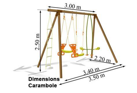 Dimension Balancoire by Dimension Portique Balan 231 Oire Abri De Jardin Et