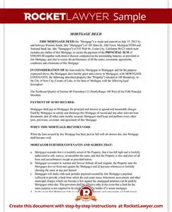 mortgage deed mortgage deed of trust form with sample