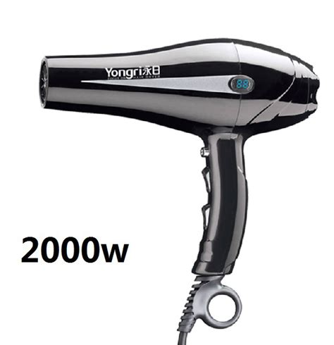 Hair Dryer Cold Or 2000w led display hair dryer professional hairdryer and cold air temperature adjustment