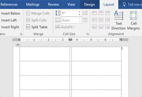 how to set up label template in word create and print labels using mail merge word