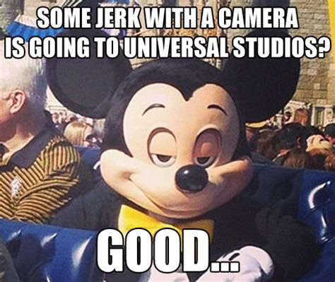 Mickey Meme - evil mickey meme some jerk with a camera by