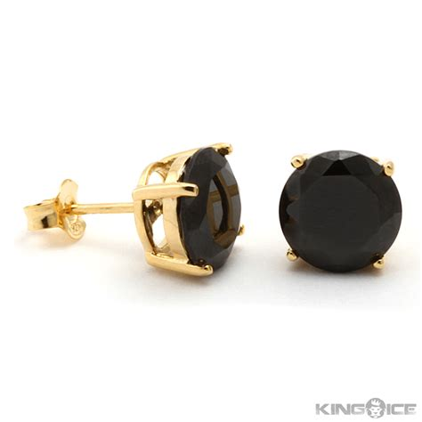 black studs on hd hip hop earrings mens earrings bling