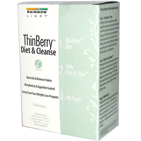 7 Day Detox System by Rainbow Light Thinberry Diet Cleanse 7 Day System 3