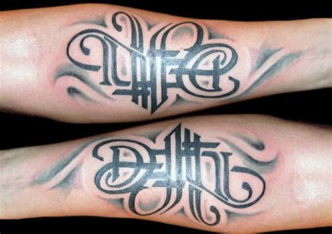 life and death tattoos designs 50 designs for masculine ink ideas