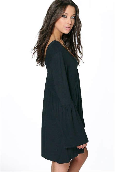 v neck swing dress boohoo womens tall millie v neck swing dress ebay