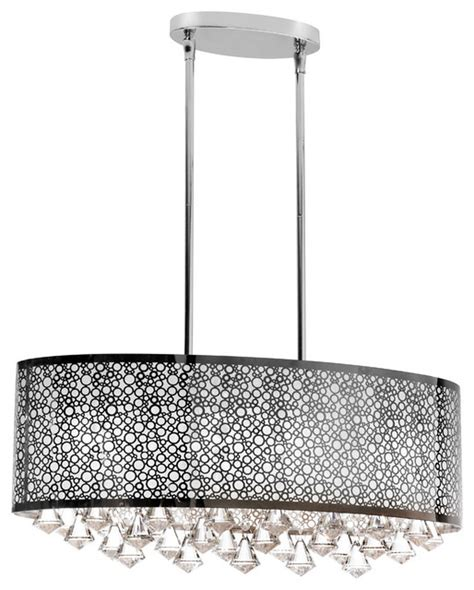 edelstahl kronleuchter 6 light oval chandelier stainless steel laser cut shade