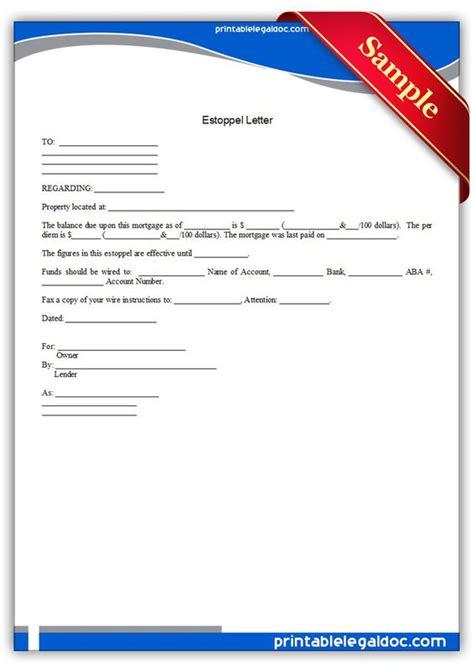 Mortgage Estoppel Letter Sle The World S Catalog Of Ideas