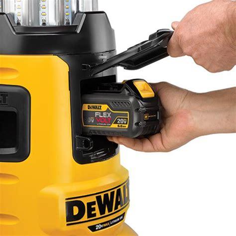dewalt 20v area light dewalt flexvolt dcl070 bluetooth led area worklight