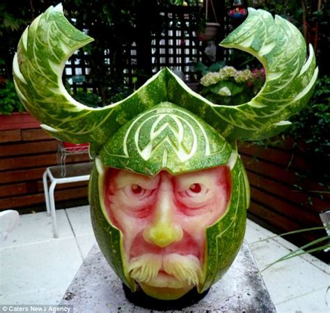 They Been Carving Melons Again by Artist Uses His Melon When It Comes To Creating Stunning
