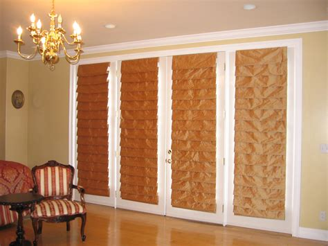 roll up shades for sliding glass doors bamboo blinds for sliding doors home remodeling and