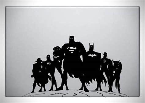 Sticker Laptop Justice League Heroes justice league macbook decal hiconsumption