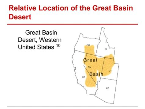 great basin on us map five themes great basin desert