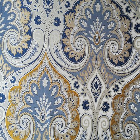 Cheap Bedroom Furniture Stores aliexpress com buy classic blue paisley damask jacquard