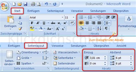 word web layout seitenlayout klickdichschlau at word writer abs 228 tze