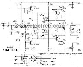 layout lifier ocl 150 watt power amplifier ocl 40w by 2n3055 mj2955 circuit diagram world
