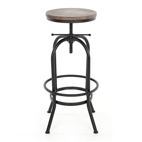 adjustable bar stools uk industrial style height adjustable swivel bar stool