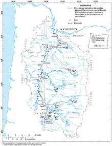 river oregon map usgs willamette river temperature modeling basin map