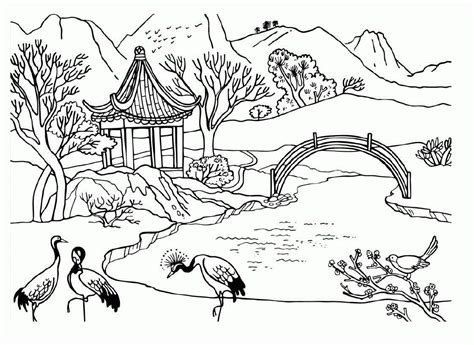 landscape coloring pages print 1000 images about coloring