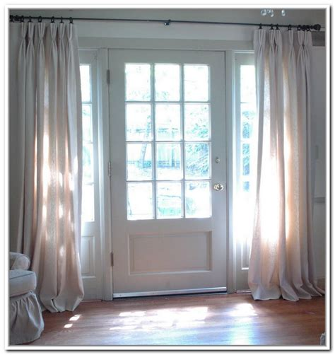Curtains For Front Door Window Sidelight Window Treatments On The Entry Doors Homesfeed