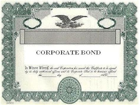 corporate bond certificate template bond