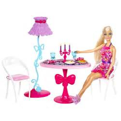 Glam Dining Room Furniture And Doll Set Dollhouse Furniture Set Bed Mattress Sale