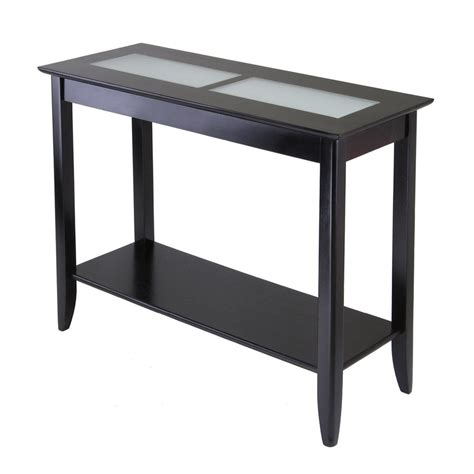 espresso sofa table shop winsome wood syrah dark espresso composite