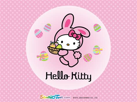free hello kitty easter wallpaper hello kitty easter wallpapers hello kitty forever