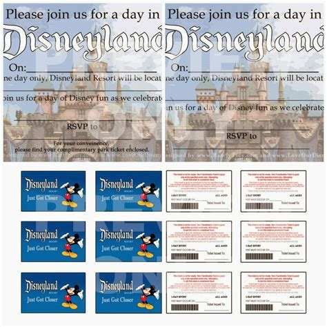 printable pretend disney tickets free printable disneyland themed party invites and quot park