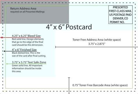 Usps Postcard Template Regulations 425 X 6 Spitznas Info 4x6 Postcard Template
