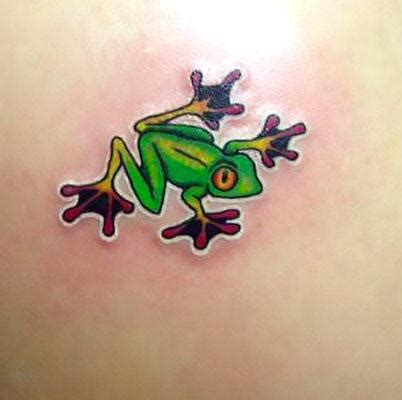 cute small frog tattoos small frog idea