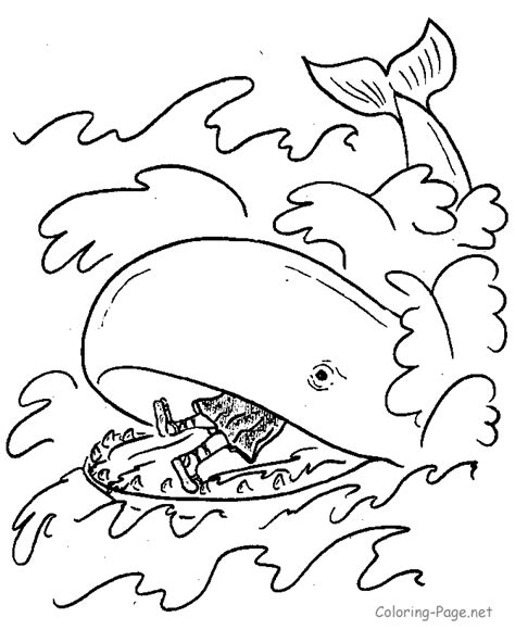 Jonah And The Whale Coloring Page Coloring Home Jonah Coloring Pages