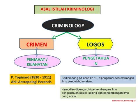 Viktimologi Dalam Sistem Peradilan Pidana pengertian obyek kajian kriminologi
