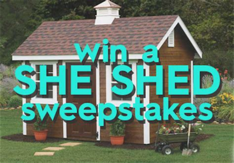 Better Home And Garden Sweepstakes - better homes and gardens diy she shed sweepstakes sun sweeps