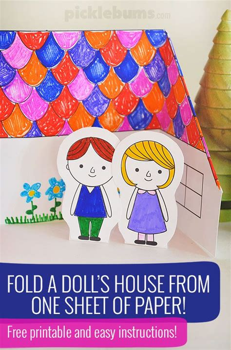 How To Fold And Cut Paper Dolls - make a paper doll s house free printable paper houses
