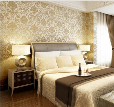 soundproofing bedroom damask classical wallpapar rolls flocked wall paper for
